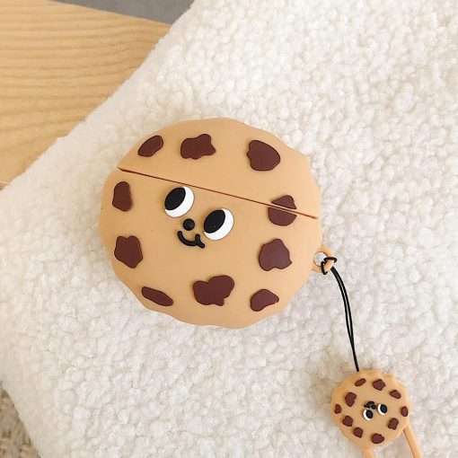 Cute Chocolate Chip Cookie Premium AirPods Case Shock Proof Cover