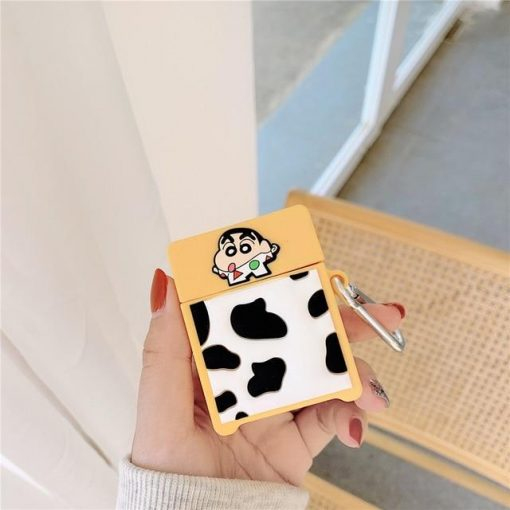 Shin Chan 'Cow' Premium AirPods Case Shock Proof Cover