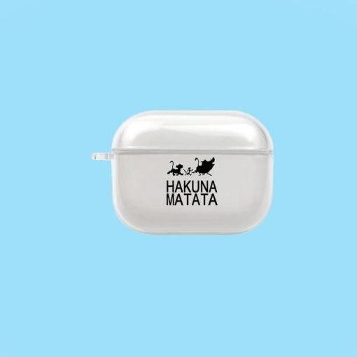 Lion King 'Hakuna Matata' Clear Acrylic AirPods Pro Case Shock Proof Cover