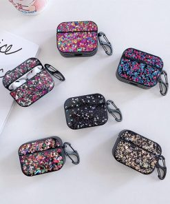 Glitter Rounded Silicone AirPods Pro Case Shock Proof Cover