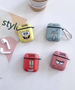 Spongebob Squarepants  Hard Silicone AirPods Case Shock Proof Cover