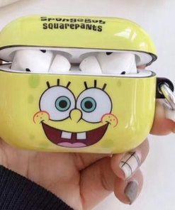 Spongebob Squarepants  Hard Silicone AirPods Pro Case Shock Proof Cover