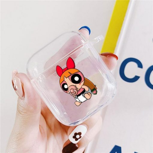 Powerpuff Girls Clear Acrylic AirPods Case Shock Proof Cover