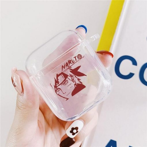 Naruto Clear Acrylic AirPods Case Shock Proof Cover