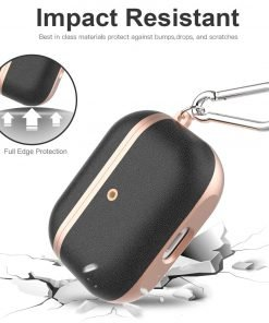 Soft TPU | Plastic and Vegan Leather AirPods Pro Case Shock Proof Cover