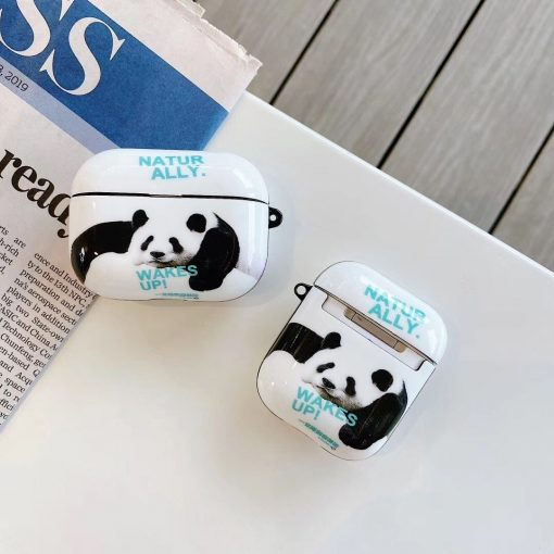 Drew 'Panda   Wake Up' AirPods Case Shock Proof Cover