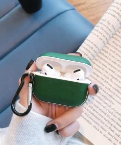 Retro Vegan Leather AirPods Pro Case Shock Proof Cover