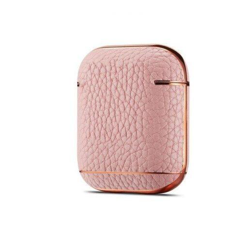 Vegan Leather   TPU Premium AirPods Case Shock Proof Cover