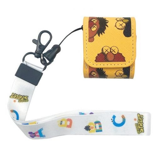 KAWS 'Sesame Street' Vegan Leather | Silicone AirPods Holster Case