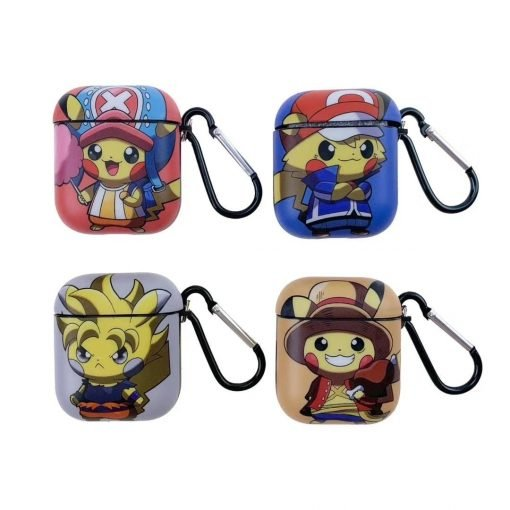 Pokemon   One Piece 'Crossover' AirPods Case Shock Proof Cover