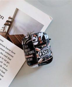 Fashion Retro Graffiti AirPods Case Shock Proof Cover