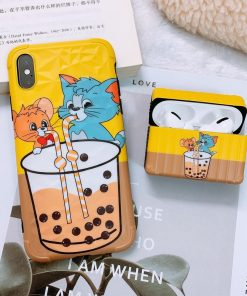 Tom and Jerry 'Buddy Bubble Tea   Modular' AirPods Pro Case Shock Proof Cover