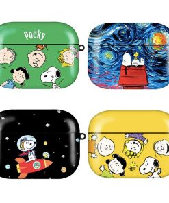 Charlie Brown 'Snoopy in Denim' AirPods Pro Case Shock Proof Cover