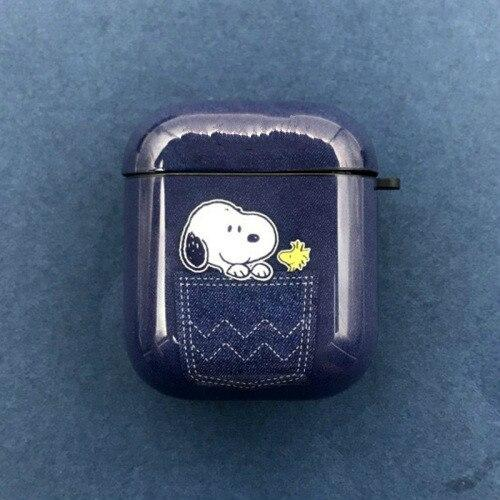 Charlie Brown 'Snoopy in Denim' AirPods Case Shock Proof Cover