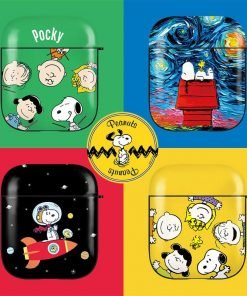 Charlie Brown 'The Gang in Yellow' AirPods Case Shock Proof Cover