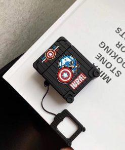 Captain America 'Suitcase' Premium AirPods Case Shock Proof Cover