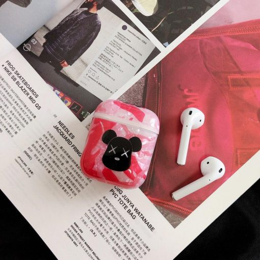 Gloss and Glitter Camouflage Silicone 'KAWS' AirPods Case Shock Proof Cover