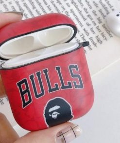 Basketball 'Bathing Ape | Bulls' AirPods Case Shock Proof Cover