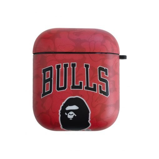 Basketball 'Bathing Ape   Bulls' AirPods Case Shock Proof Cover