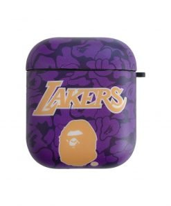 Basketball 'Bathing Ape | Lakers' AirPods Case Shock Proof Cover