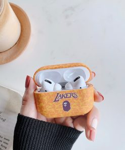 Basketball 'Bathing Ape | Lakers | Light Orange Camo' AirPods Pro Case Shock Proof Cover