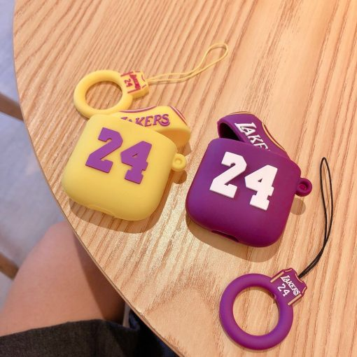 Basketball Lakers No. 24 Jersey AirPods Case Shock Proof Cover