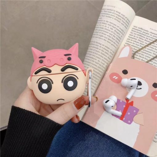 Crayon Shin Chan 'Pig Hat' Premium AirPods Pro Case Shock Proof Cover