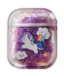 Glitter Liquid Quicksand Unicorn AirPods Case Shock Proof Cover