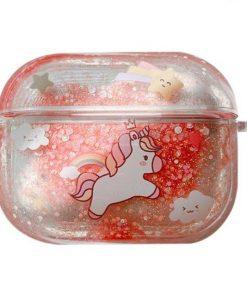 Glitter Liquid Quicksand Unicorn AirPods Pro Case Shock Proof Cover