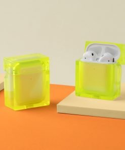 Square Hard Acrylic AirPods Case Shock Proof Cover