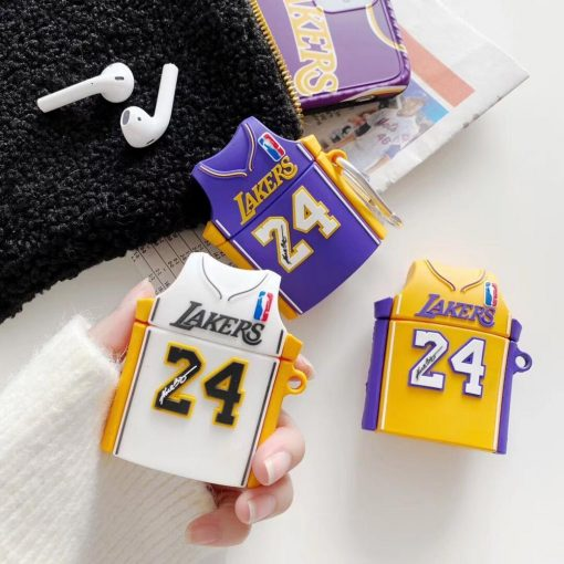 Lakers Basketball Jersey Premium AirPods Case Shock Proof Cover