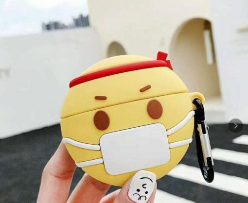 Cute Sick Facemask Emoji Premium AirPods Case Shock Proof Cover