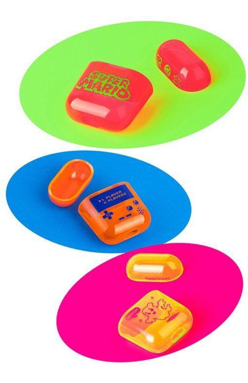 Fluorescent Neon Classic Nintendo AirPods Case