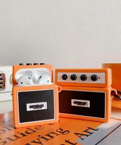 Orange Guitar Amp Premium AirPods Case Shock Proof Cover