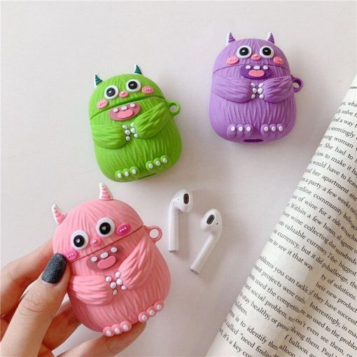 Cute Doodle Monster Premium AirPods Case Shock Proof Cover