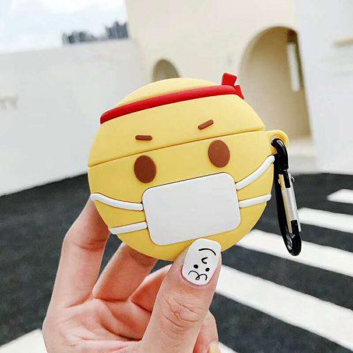 Cute Sick Facemask Emoji Premium AirPods Pro Case Shock Proof Cover