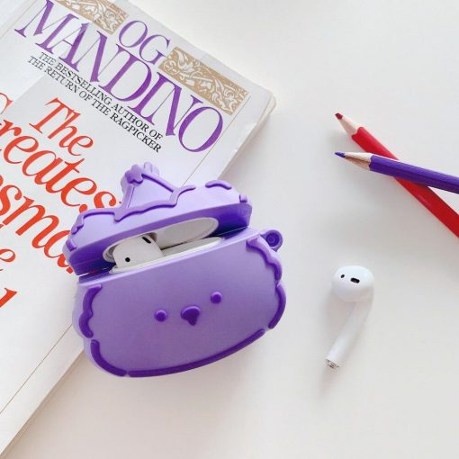 Cute Purple Bear | Pink Cloud Premium AirPods Pro Case Shock Proof Cover