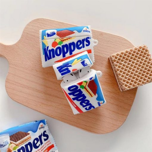 Knoppers Wafer Cookies Premium AirPods Case Shock Proof Cover