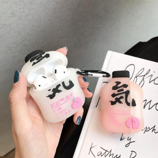 Japanese Peach Soda Premium AirPods Case Shock Proof Cover
