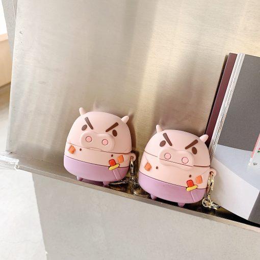 Crayon Shin Chan 'Buriburizaemon | Pig | Sword' Premium AirPods Case Shock Proof Cover