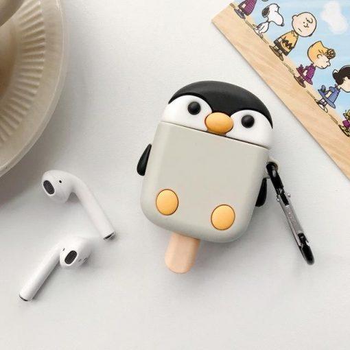 Penguin Ice Cream Premium AirPods Case Shock Proof Cover