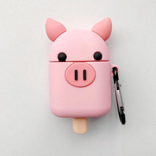 Pig Ice Cream Premium AirPods Case Shock Proof Cover