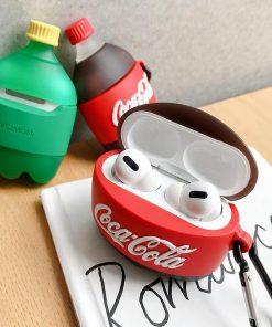 Coca Cola Bottle Premium AirPods Pro Case Shock Proof Cover
