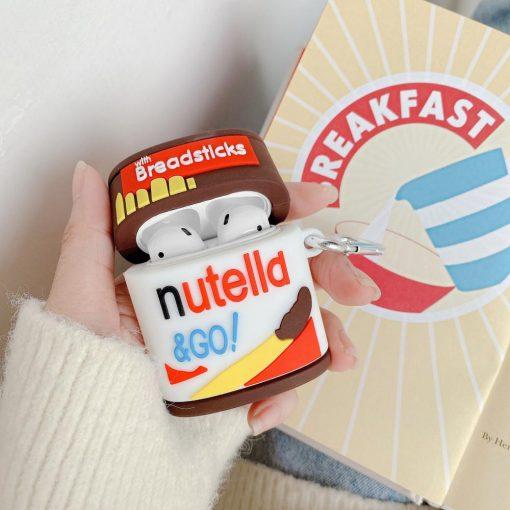 Nutella Go Breadsticks Premium AirPods Case Shock Proof Cover