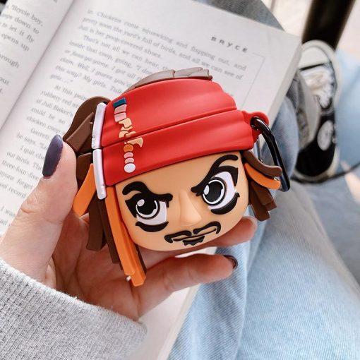 Captain Jack Sparrow 'Comic' Premium AirPods Case Shock Proof Cover