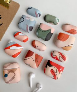 Modern Art Silicone AirPods Case Shock Proof Cover