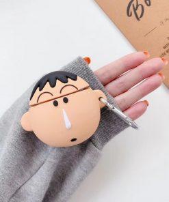 Crayon Shin Chan 'Ah Dai' Premium AirPods Case Shock Proof Cover