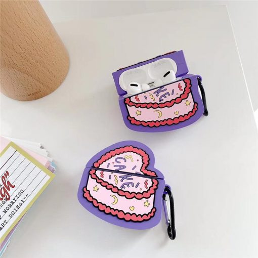 Heart Birthday Cake Premium AirPods Pro Case Shock Proof Cover