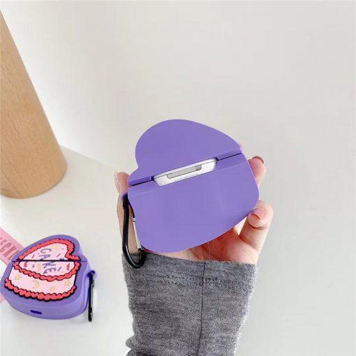 Heart Birthday Cake Premium AirPods Case Shock Proof Cover