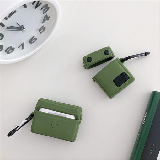 Fashion Military Backpack Premium AirPods Case Shock Proof Cover